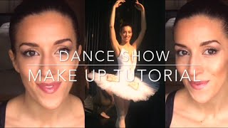 Ballet Dance Show Makeup Tutorial, Christmas Gold Glitter