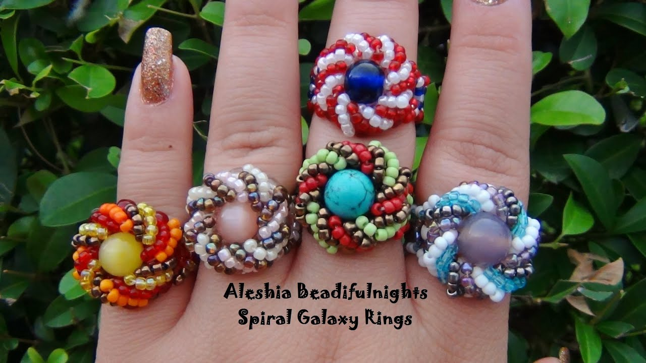 making a beaded ring rings flower tutorial how to make jewellery from pin craftaholique