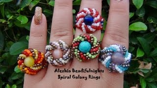 Spiral Galaxy Beaded Ring Tutorial