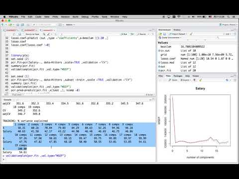 R Tutorial 17: Ridge Regression, Lasso, Principle Component Regression, Partial Least Squares