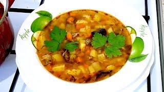 Рецеп домашнего супа  Быстро и очень вкусно.