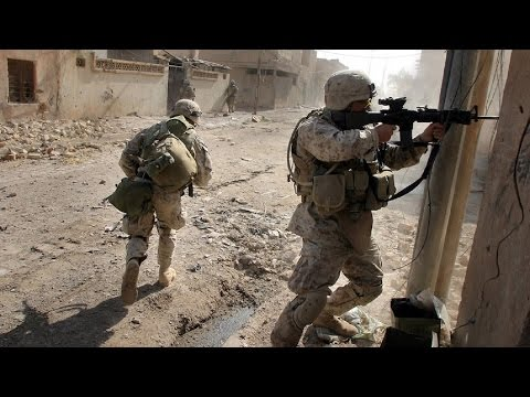 U.S. MARINES IN BATTLE OF FALLUJAH - URBAN COMBAT FOOTAGE |