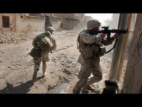 U.S. MARINES IN BATTLE OF FALLUJAH - URBAN COMBAT FOOTAGE | IRAQ WAR