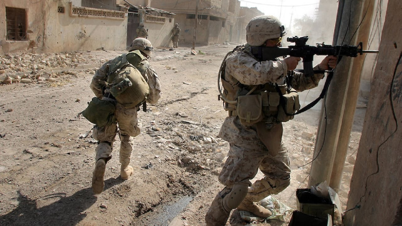 U S  MARINES IN BATTLE OF FALLUJAH - URBAN COMBAT FOOTAGE | IRAQ WAR