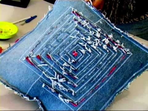 cost charm top brands wholesale dealer Recycled Jeans Cushion 1/4 (Recycled Denim)