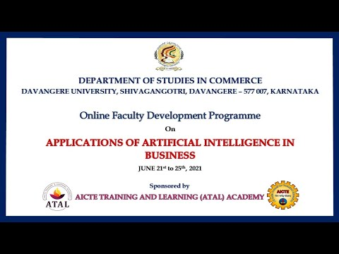 Technical Session-4 : Online FDP on Applications of Artificial Intelligence in Business