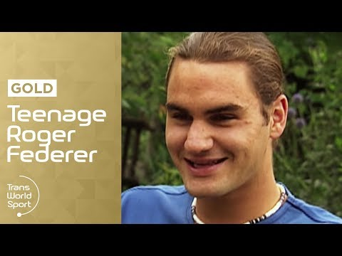 Teenage Roger Federer on Trans World Sport