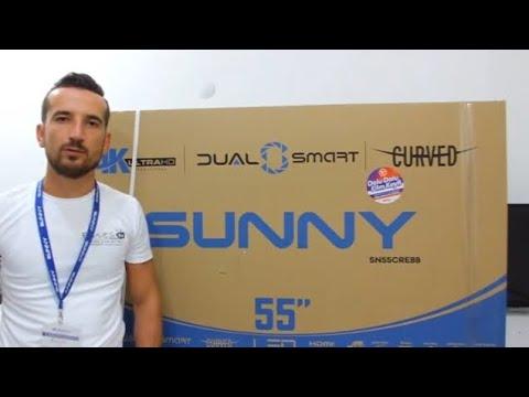 SUNNY | AXEN 140 EKRAN CURVED  SMART 4K LED TV İNCELEME SN55CRE88 AX55CRE88