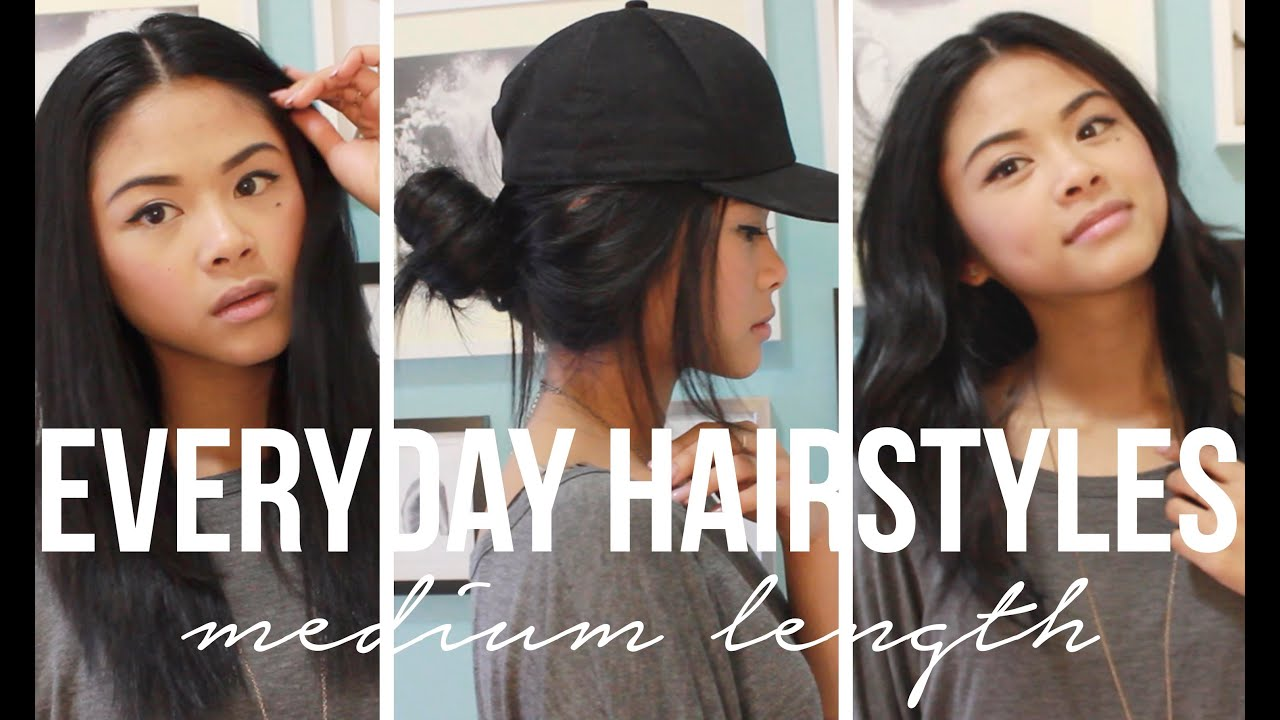Everyday Hairstyles for Medium Length Hair  ToThe9s  YouTube