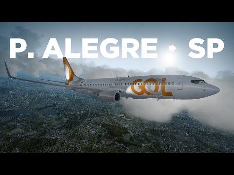 Prepar3D - B737-800 / Porto Alegre → São Paulo online pela Ivao