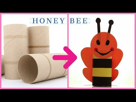 cardboard-tube-crafts-ideas-i-how-to-make-a-honey-bee-from-cardboard-tube-i-diy