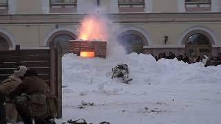 Сталинградская битва во дворе Нацмузея