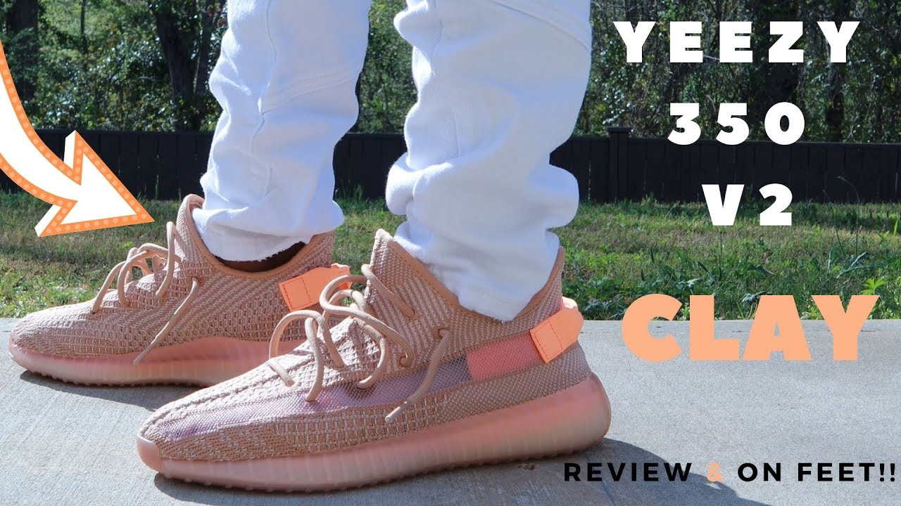 630627d1b YEEZY 350 V2 CLAY REVIEW   ON FEET!! - YouTube