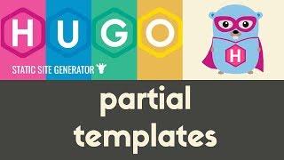 Partial Templates | Hugo - Static Site Generator | Tutorial 21