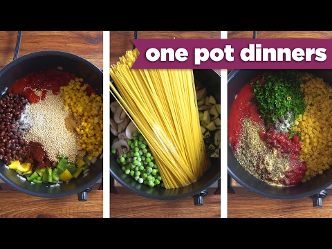 Healthy One-Pot Dinner Recipes! Pizza Pasta, Taco Quinoa, + BONUS Recipe! Mind Over Munch