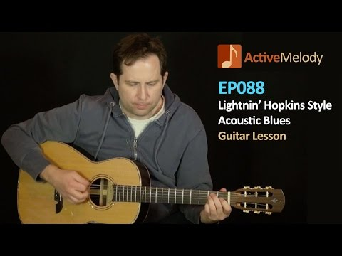 Lightnin' Hopkins Guitar Lesson – Acoustic Blues (with a pick) – EP088