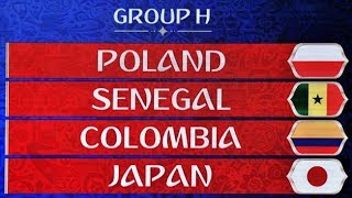 World cup 2018 group h predictions