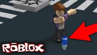 BOTTLE FLIPPING EN ROBLOX GOES RIGHT!