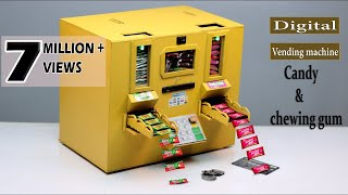 how to make Candy Vending Machine at home    E-Motorised , Coin & ATM supported