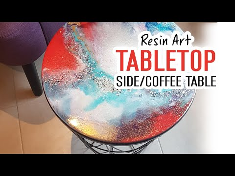 Resin art - Sidetable N°1