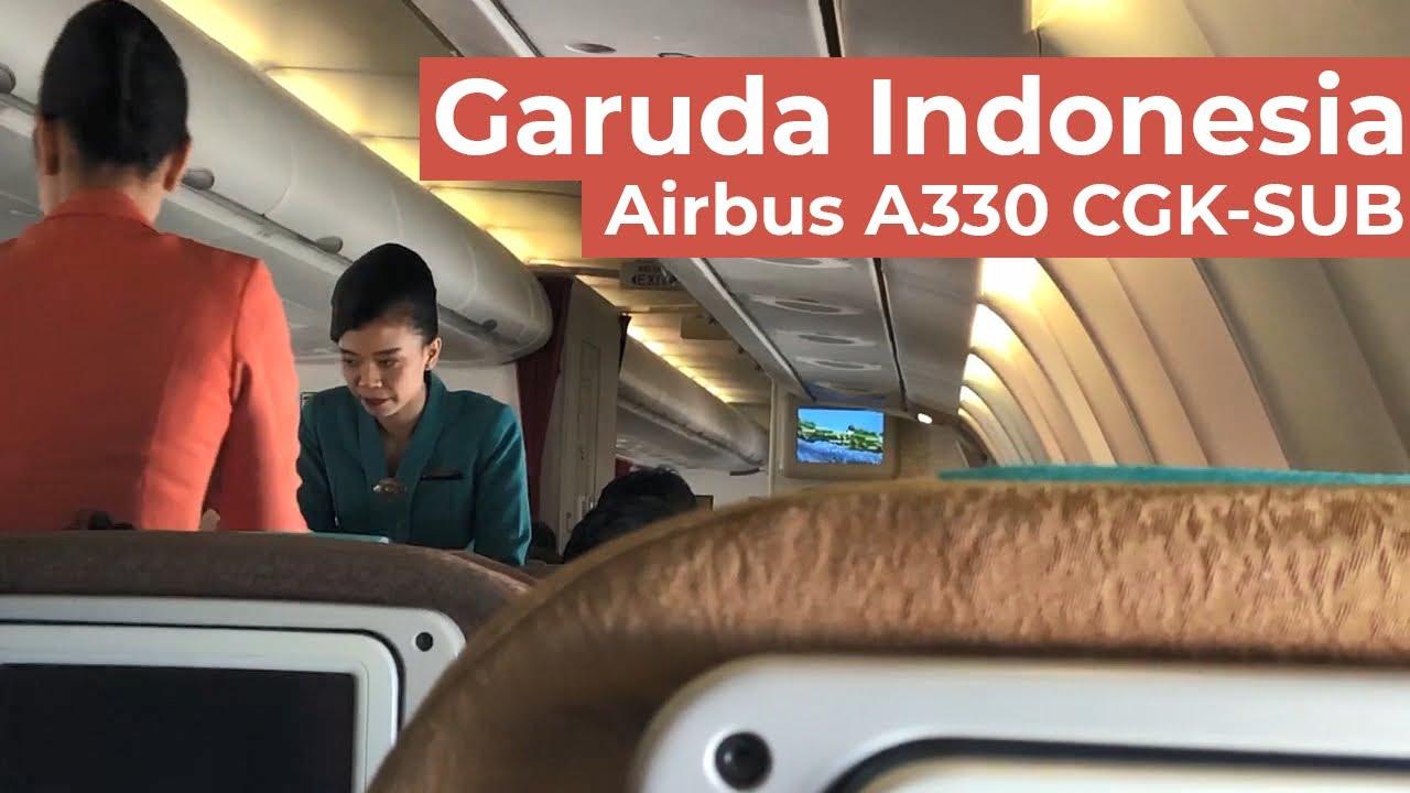 Garuda Indonesia Airbus A330 Jakarta Menuju Surabaya