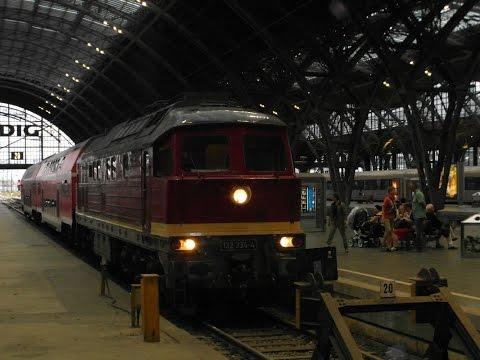 Ludmilla 132 334-4 auf der Unstrutbahn und nach Leipzig