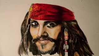 JACK SPARROW Magic Doodle (a Pirates of the Caribbean Time Lapse) - @DramaticParrot