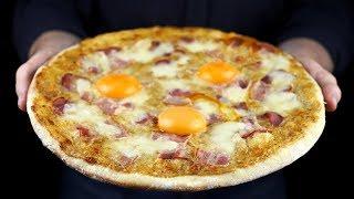 ВКУСНЕЙ ЧЕМ ПИЦЦА МАРГАРИТА ПИЦЦА КАРБОНАРА РЕЦЕПТ КАК В ПИЦЦЕРИИ How to Make Carbonara Pizza