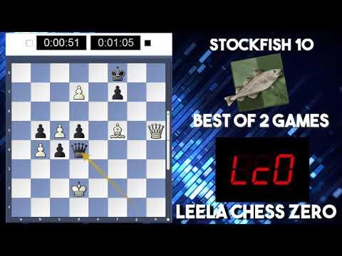 Leela Chess Zero ID 32585 vs Stockfish 10| 2 Game Engine 4 2 Blitz Match| Evenly Matched