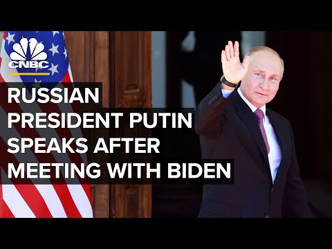Russian President Putin speaks after bilateral meeting with President Biden — 6/16/21