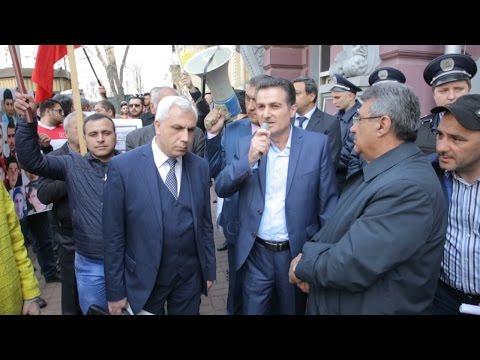 Акция протеста Азербайджанцев перед посольством Армении в Киеве