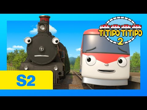 TITIPO S2 EP19 l Titipo the Time Traveler l Train Cartoons F