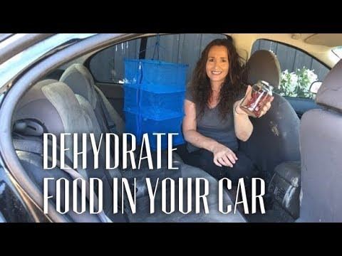 How to Dehydrate Food, Off Grid, in your Car