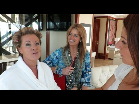 REAL HOUSEWIVES OF MELBOURNE STAR CHYKA KEEBAUGH GETTING READY FOR THE TV WEEK LOGIES 2015
