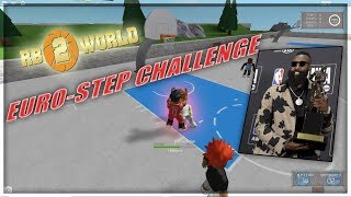 James Harden Euro Step Challenge (Gone Wrong) Part 1 | ROBLOX RB World 2 Gameplay
