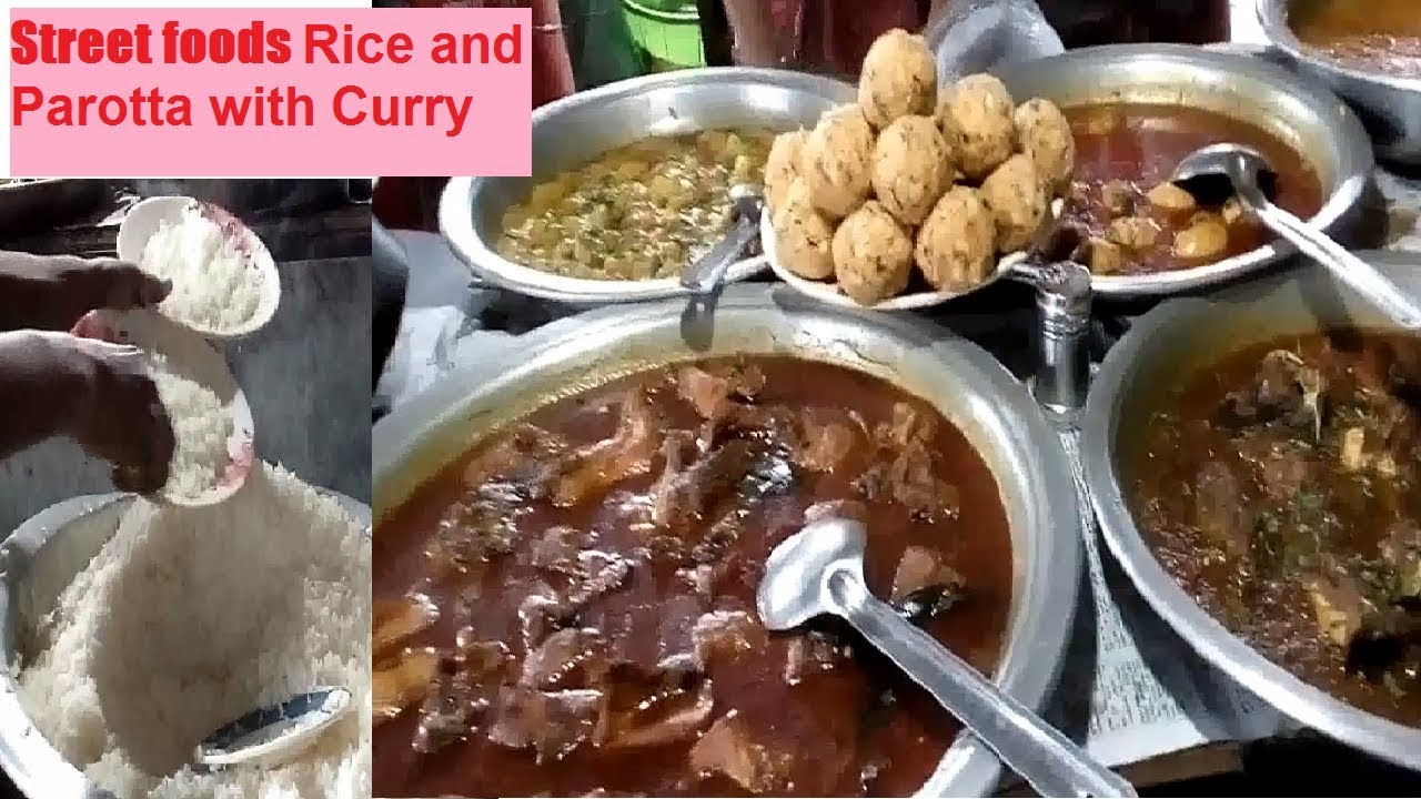 Bangladeshi street foods rice parotta with different curry bengali bangladeshi street foods rice parotta with different curry bengali street food dhaka city forumfinder