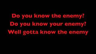 Green day - know your enemy lyrics