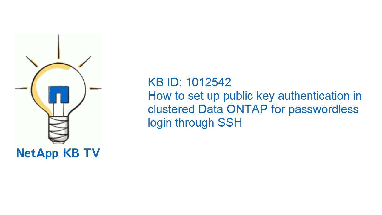How to set up public key authentication in clustered data ontap how to set up public key authentication in clustered data ontap for passwordless login through ssh 1betcityfo Image collections