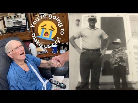 Man Surprised By Estranged Son On 90th Birthday