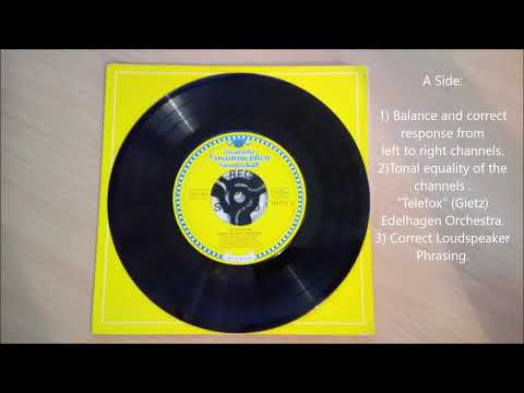 Vintage Stereo Test Record (vinyl rip)