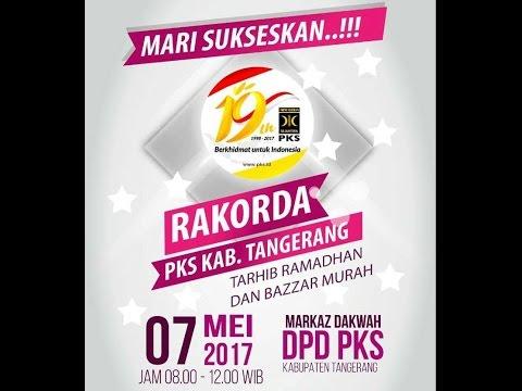 PKSTV :  Rakorda DPD PKS Kabupaten Tangerang 2017