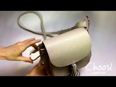 Бежевая кожаная сумка Chloe  - Choosl