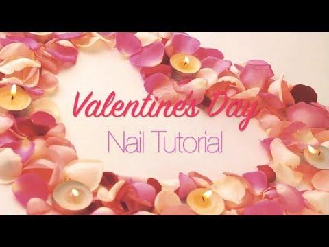 Tutorial: Valentine's Day Pink Gradient Nails ♡