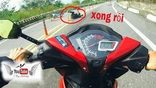 GSX tai nạn khi chạy đèo |Xu Bike| & |Tânduy43|