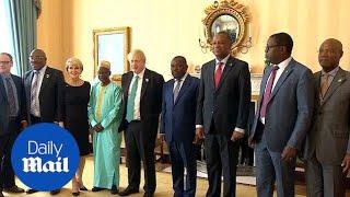 Boris Johnson meets Zimbabwean counterpart Sibusiso Moyo - Daily Mail
