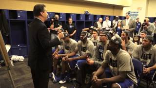 Kentucky Wildcats TV: Coach Cal talks to his team following the victory over Michigan.