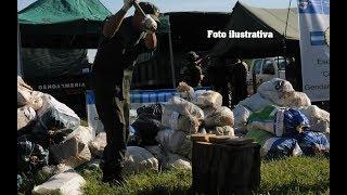 Fuerzas federales incineran droga incautada en Goya