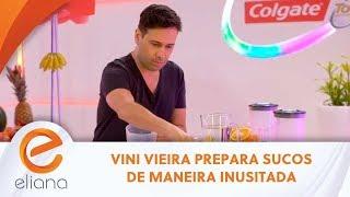 Vini Vieira é desafiado a fazer sucos de uma maneira inacreditável | Programa Eliana (10/11/2019)