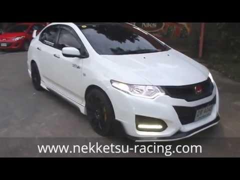 ชุดแต่ง Honda City 08-13 ทรง Type R15 สีขาว จาก Nekketsu Racing.
