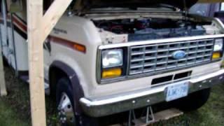 Old Start Cold Start 1987 Ford 6.9 Diesel Motorhome